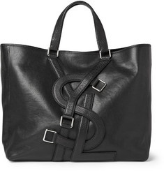 YSL: Leather Tote Bags, Yves Saint Laurent, Leather Totes Bags, Logos Straps, Straps Leather, Men Bags, Laurent Logos, Ysl Logos, All Logos