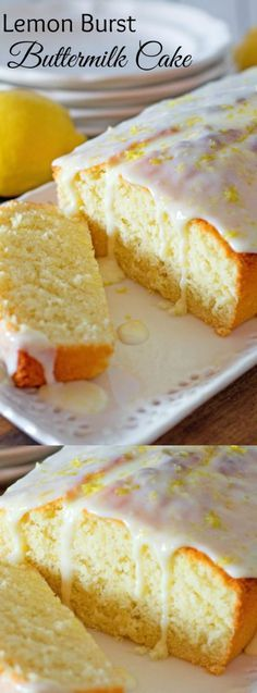 This Lemon Burst Buttermilk Cake from Melissa's Southern Style Kitchen is full of bright, sweet, and tangy flavors. It's one of those desserts that will brighten the dreariest of days!