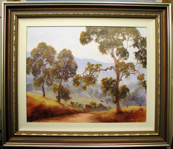 Pat Murphy original oil titled  Cattle Country . Australia