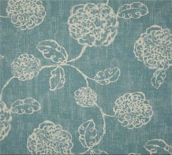 """Drapes Curtains Window Treatment Window Panel Window Curtain Panel - Floral Light Blue Ivory (24"""" or 50"""" in Width by up to 130"""" in Length)"""