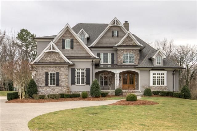 French Home Exterior with Beauti Color - love these exterior colors and features