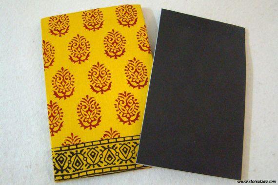 Handmade Stationery from India - Hand Block Printed Organic Cotton Cover - Notepad Indian Handicraft by StoreUtsav