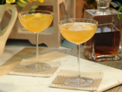 As seen on The Kitchen: Cognac 75: Cocktails Hour, 75 Recipes, Cognac 75, Lemon Twists, Simple Syrup, Champagne Flutes, 75 Shakes, Lemon Juice, Food Drinks
