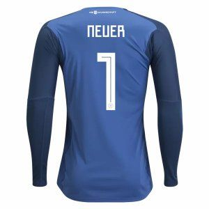 2018 World Cup Jersey Germany Goalie LS Neuer Home Replica Blue Shirt [BFC697]