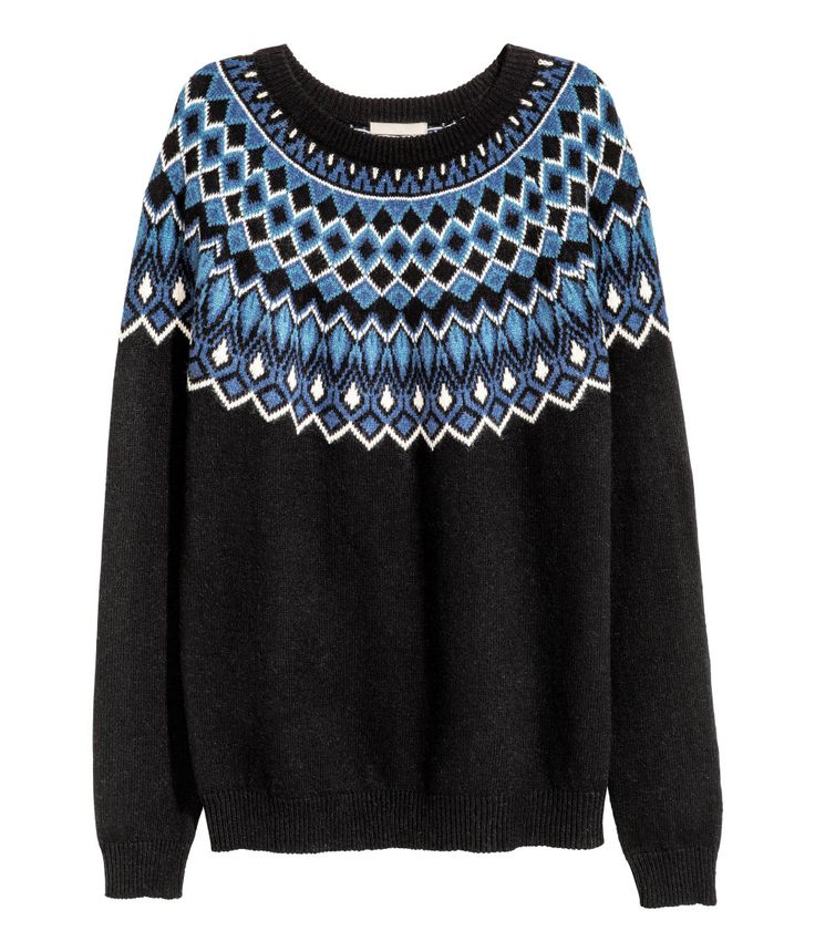 Jacquard-knit Sweater   Warm in H&M