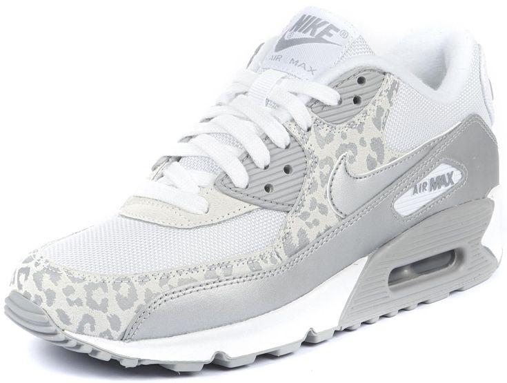 Nike Air Max 90 W luipaard wit zilver