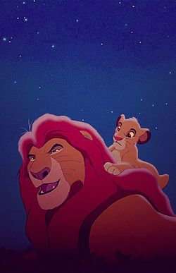 A father/son moment, the lion king