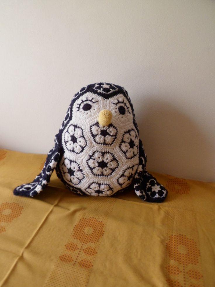 háčkovaný tučňák