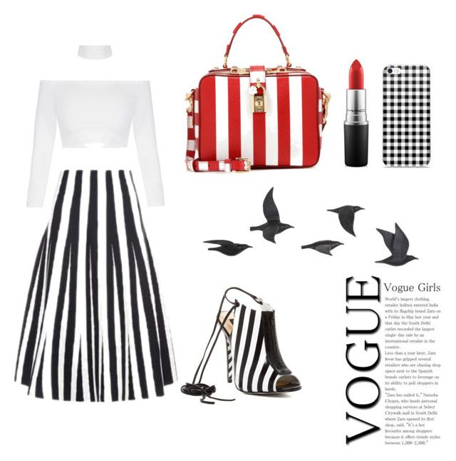 """""""Black and Withe"""" by mariapauladiaz142 on Polyvore featuring Alexander Wang, Alejandra G, Dolce&Gabbana, Jayson Home and MAC Cosmetics"""