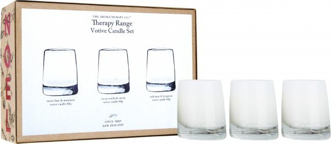 The Aromatherapy Company Votive Candle Set available online at Summer Lane