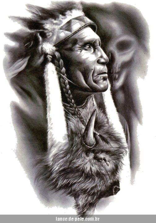 Image detail for -Tatuaje Apache Indian guerrero indio nativo americano búfalo muerte ...