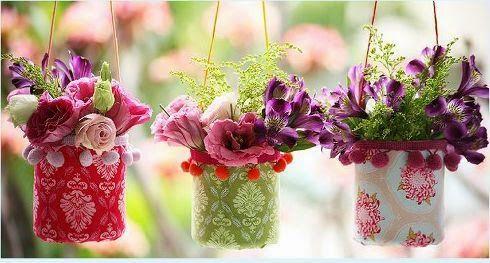 Cómo hacer un lindo florero reciclando botellas de plástico   Aprender manualidades es facilisimo.com