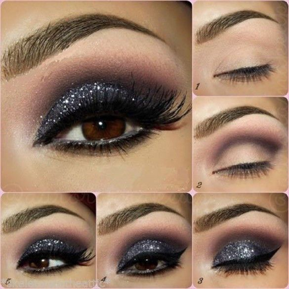 6 Piece Color Makeup Pro Glitter Eyeshadow