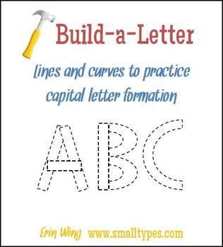 Build-a-Letter Free Printable ... be great with building the alphabet