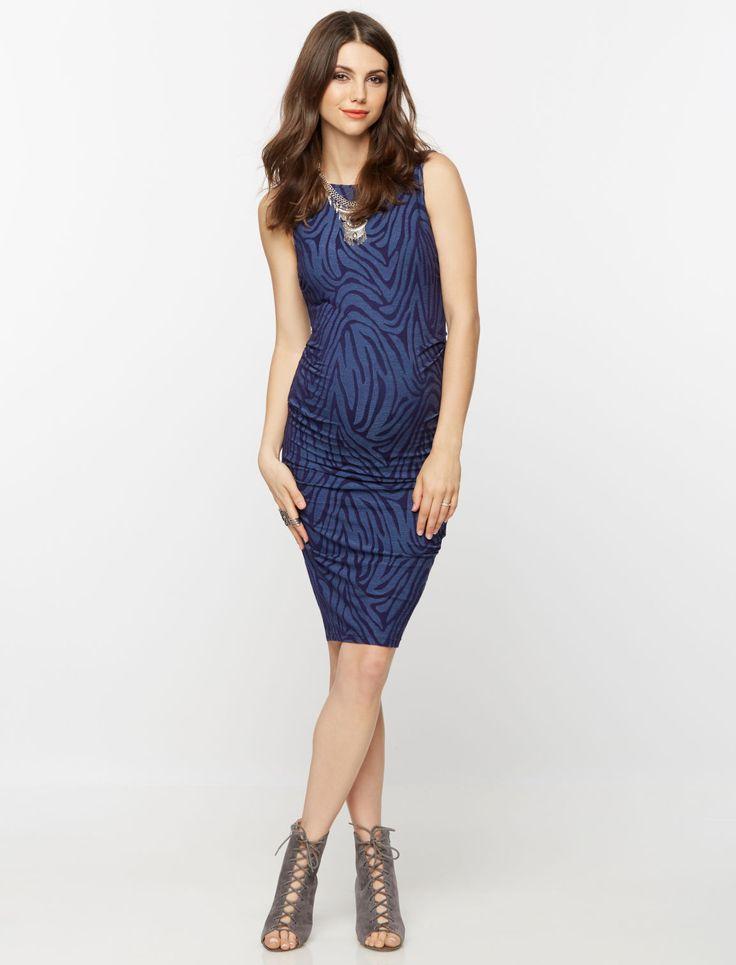 A Pea in the Pod Jacquard Animal Print Maternity Dress