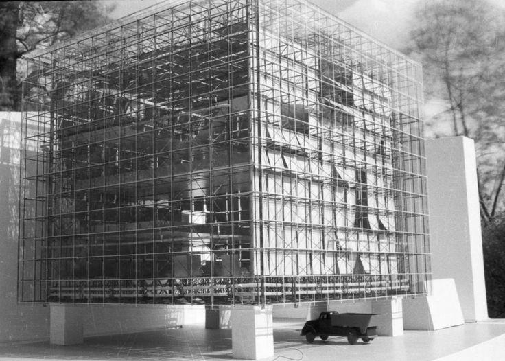 Oskar Hansen, współautorzy: Lech Tomaszewski, Stanisław Zamecznik,  projekt rozbudowy Zachęty w Warszawie, 1958, fot. Muzeum ASP w Warszawie - photo 3