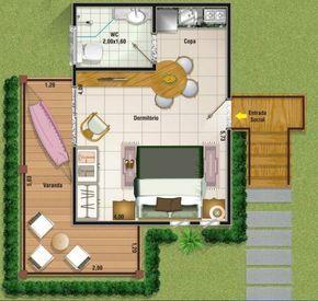 Para quem está pensando em construir uma casa pequena, poderá conferir 3 tipos de plantas até 50 m2 para ter uma base de construção.