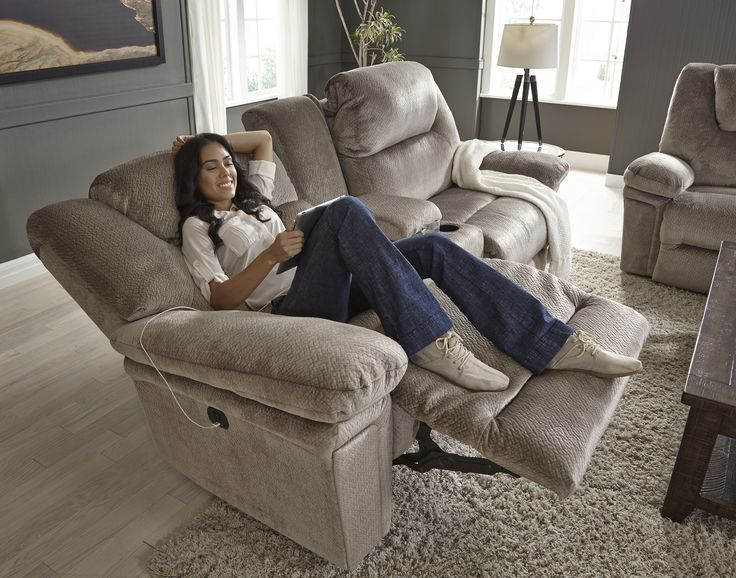 Our Parker Collection A Power Reclining Sofa And Matching