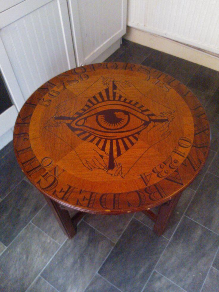 Ouija table handmade refurbished occult gothic oddity curiosity