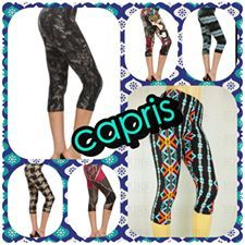 Buskins has capris for everyone only $15 USD or $18.50 CND so soft, comfy and stretchy even pregnant ladies wear them in their third trimester. http://mybuskins.com/#vrollinson referring affiliate Valarie Rollinson