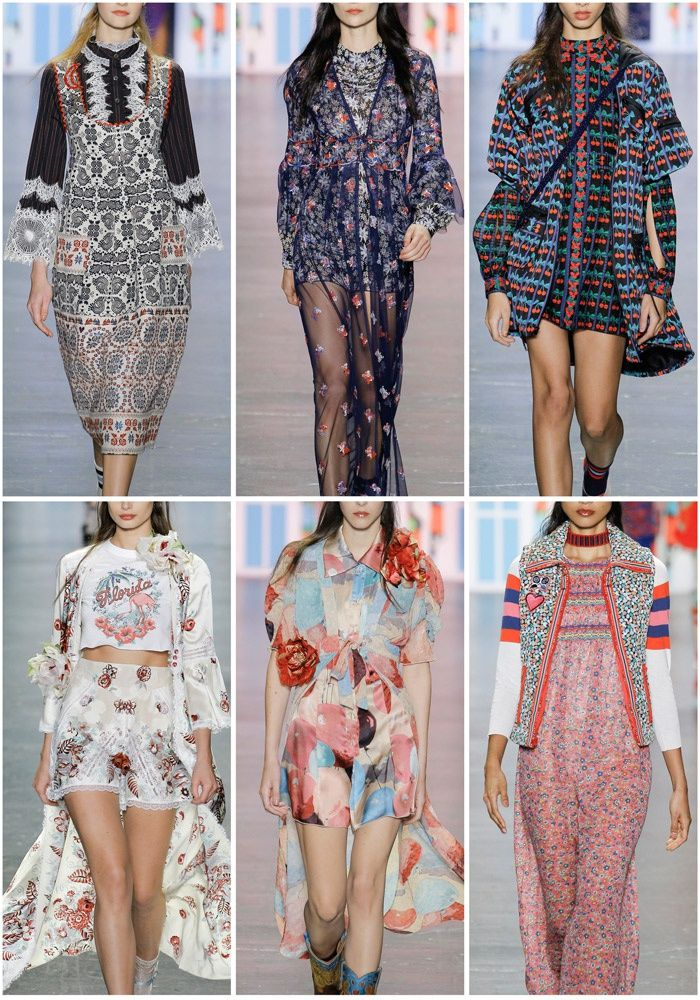 Patternbank are loving the latest SS17 collection from Anna Sui. The collection was an eclectic mix of Folkloric Dutch motifs and kitschy American souvenir prints.