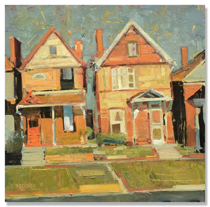 """Jim Beckner I """"Neighborhood V"""" I Oil, 20 x 20"""""""