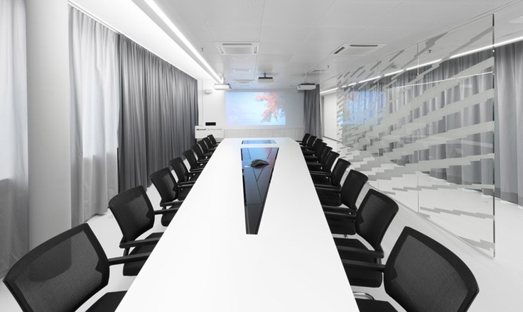 Hi Tech Office Reception on Unilever Offices Switzerland