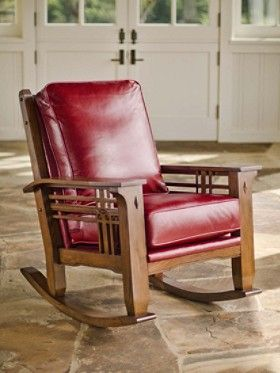 Stagecoach Leather Rocker Craftsman Style Pinterest