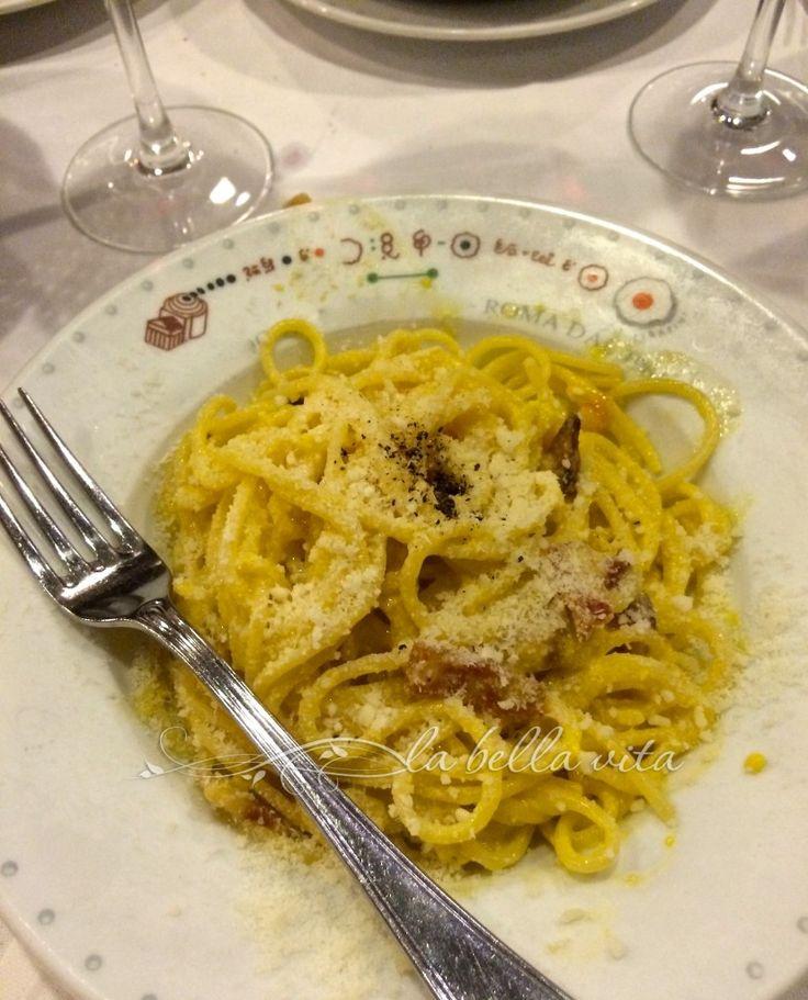 Authentic Spaghetti Carbonara, a Roman Pasta Tradition! - la bella vita cucina