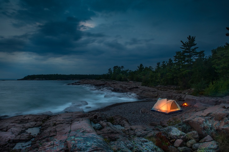 Killarney (Georgian Bay) Campsite - photo by Steve Elms
