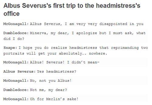The real reason Harry named him albus Severus. - | via We Heart It