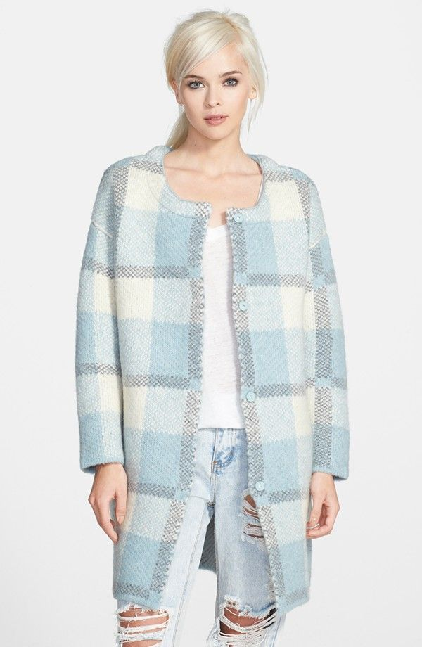 Product Of The Day:  Plaid Cardigan Coat