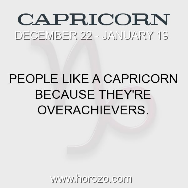 Fact about Capricorn: People like a Capricorn because they're overachievers. #capricorn, #capricornfact, #zodiac. More info here: https://www.horozo.com/blog/people-like-a-capricorn-because-theyre-overachievers/ Astrology dating site: https://www.horozo.com