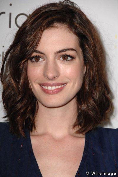 Anne Hathaway - brown hair   Hair Inspiration   Pinterest Anne Hathaway Brown