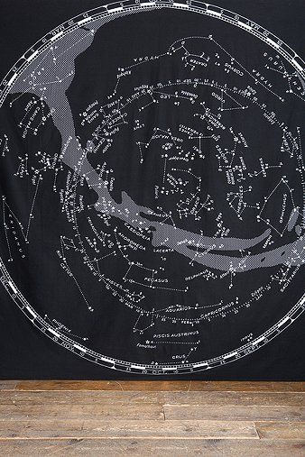 Constellation Map Tapestry Throw