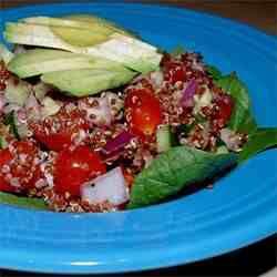 Red Quinoa and Avocado Salad
