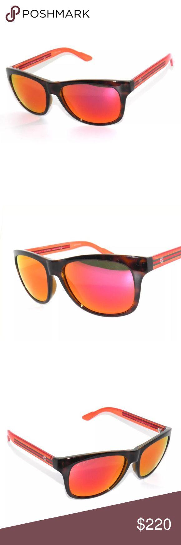 Gucci 3709 Havana Orange Mirror Sunglasses Brand new, comes with all accessories Gucci Accessories Sunglasses