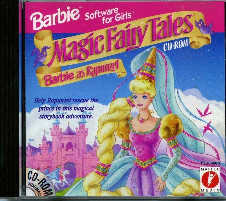 Magic Fairy Tales Barbie As Rapunzel Cd Rom Game 1996 My Childhood Pinterest Rapunzel