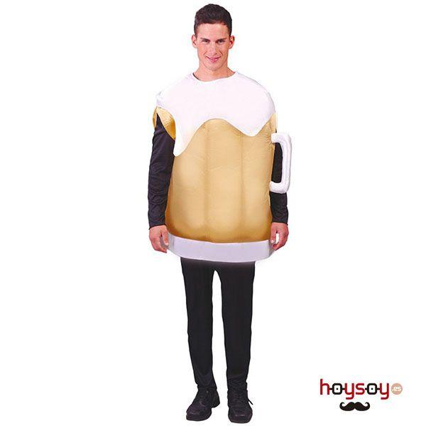 Original #disfraz de jarra de #cerveza, ideal para darle un toque de humor a tu fiesta de #Oktoberfest #Disfraces
