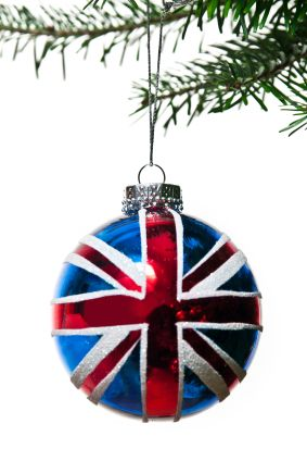 UNION JACK BAUBLE. EVERY CHRISTMAS TREE SHOULD HAVE ONE.