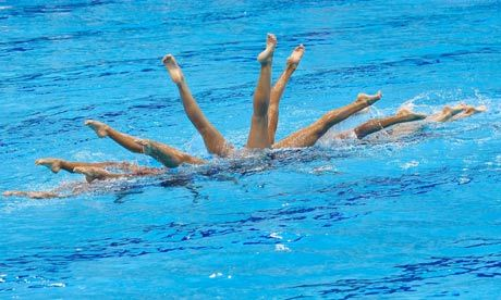 Synchronized swimming. There's something retro about it that makes it fun.