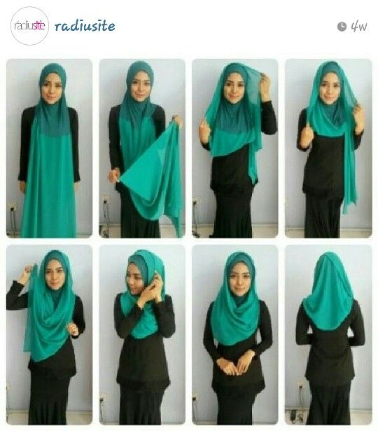 Radiusite :: hijab tutorial.. using the same tudung instant.. different style.