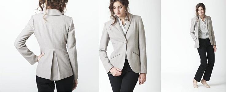 Grey Wool Ladies Tailored Jacket  www.lo-studio.biz  http://www.facebook.com/lostudiopage