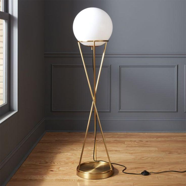 Cb2 solis globe floor lamp
