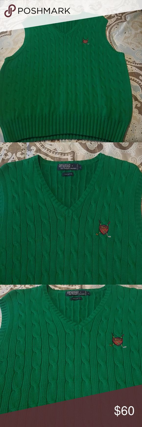 Sale!Men's vintage Polo RL sweater vest size large Mens Polo RL cable sweater vest size large. Great condition like new. Polo by Ralph Lauren Sweaters V-Neck