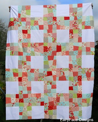 Love the wonky cut with the perfect white squarePrecut Quilt, Lattice Quilt, Quilt Galore, Quilt Ideas, Quilt 30, Pre Cut Quilt, Ruby Quilt, Quilt Tops, Patchwork Quilt