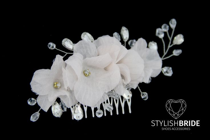 Bridal Hair Comb Pink Silk Flowers, Pink Hair Comb, Wedding Pink Hair Comb, Hair Silk Accessories, Pearl Silk Comb, Bridal Silk Hairpiece by StylishBrideAccs on Etsy