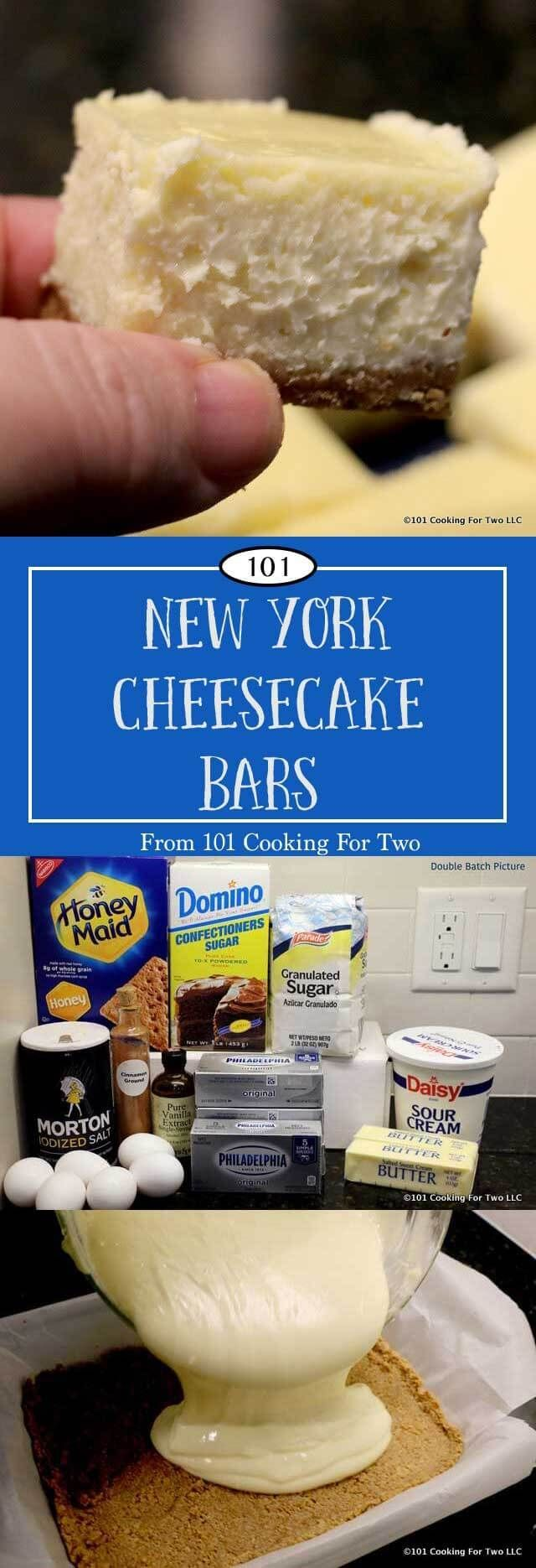 New York cheesecake bars will impress your friends and family. Creamy delectable cheesecake, great for that special brunch with friends or family gatherings. via @drdan101cft