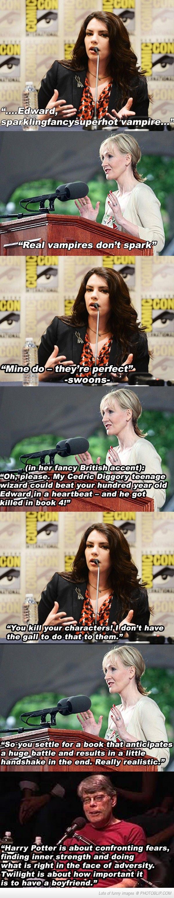 Stephanie Meyer And J.k. Rowling Debate. This is why I don't like Twilight.