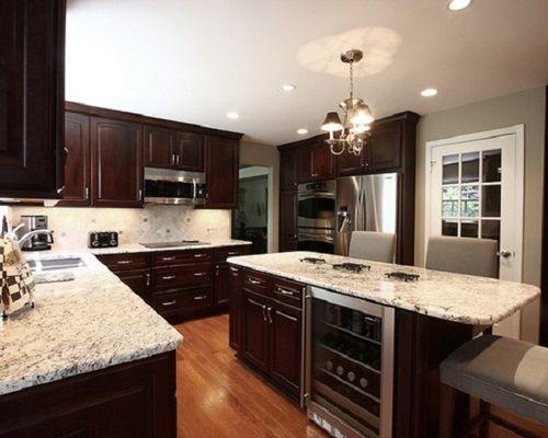 Elegant And Luxurious French Kitchen Design Ideas. Dark Wood Kitchen  CabinetsDark ...